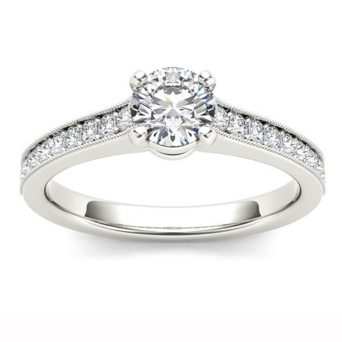 1 1/5 CT. T.W. Round White Diamond 14K Gold Engagement Ring