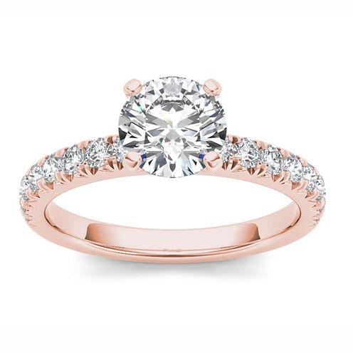 1 1/2 CT. T.W. Round White Diamond 14K Gold