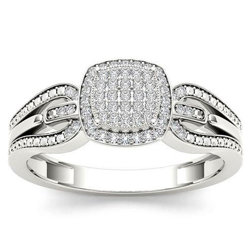1/8 CT. T.W. Round White Diamond 10K Gold Engagement Ring