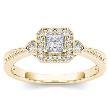 jcpenney.com | 1/3 CT. T.W. Round White Diamond 10K Gold Engagement Ring
