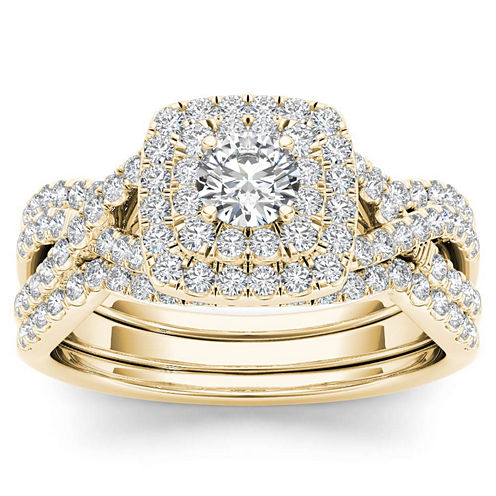 1 CT. T.W. Round White Diamond 10K Gold Engagement Ring