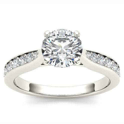 1 1/4 CT. T.W. Round White Diamond 14K Gold Engagement Ring