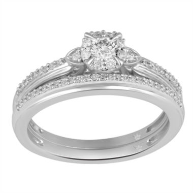 jcpenney.com | Hallmark Bridal Womens 1/3 CT. T.W. White Diamond 10K Gold Bridal Set