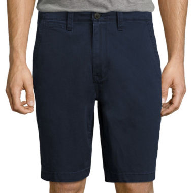 "jcpenney.com | Arizona 10 1/4"" Inseam Flat Front Shorts"