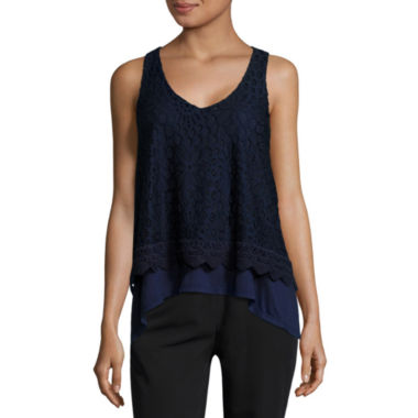 jcpenney.com | by&by Allover Lace Tank