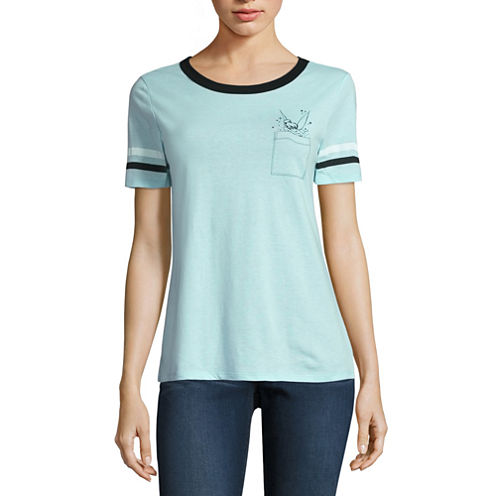 Tinker Bell Pocket Graphic T-Shirt- Juniors