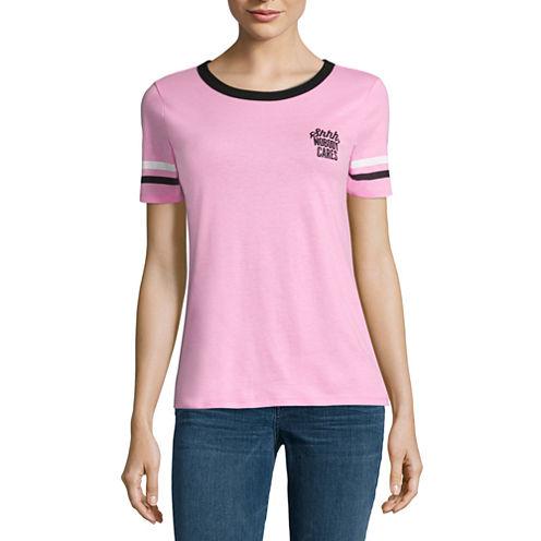 """Shhh, nobody cares"" Graphic T-Shirt- Juniors"