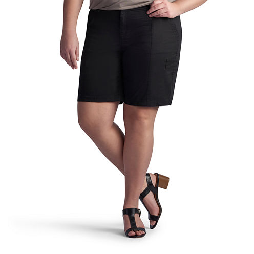 """Lee 10"""" Relaxed Fit Twill Bermuda Shorts-Plus"""