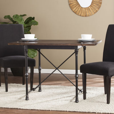 Modern Life Furniture Industrial Farmhouse Drop Leaf