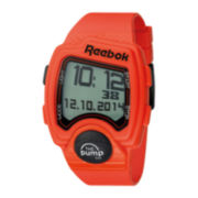Reebok® Pump PL Mens Orange Strap Sport Watch
