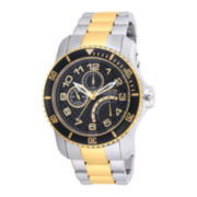 Invicta® Pro Diver Mens Black Dial Two-Tone Stainless Steel Sport Watch
