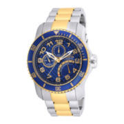 Invicta® Pro Diver Mens Blue Dial Two-Tone Stainless Steel Sport Watch 17356