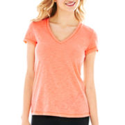 Flirtitude® Short-Sleeve Yoga Tee