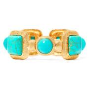 Monet® Aqua and Gold–Tone Stretch Bracelet