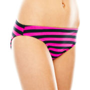 Arizona Striped Cinched Hipster Swim Bottoms - Juniors