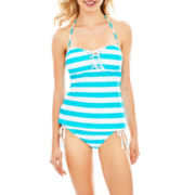 Arizona Striped Bandeaukini Swim Top or Hipster Bottoms - Juniors