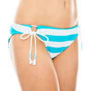 Arizona Adjustable Striped Hipster Swim Bottoms - Juniors
