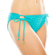 Arizona Crochet Adjustable Hipster Swim Bottoms - Juniors