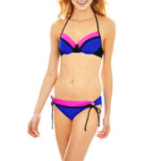 Arizona Colorblock Bra Swim Top or Hipster Bottoms - Juniors