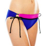 Arizona Colorblock Adjustable Hipster Swim Bottoms - Juniors