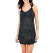 Porto Cruz® Textured Ring Tank Dress Cover-Up