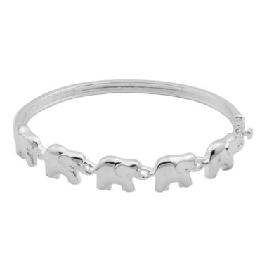 jcpenney.com | Sterling Silver Elephant Bangle