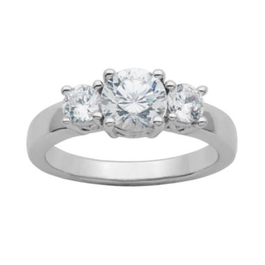 jcpenney.com | DiamonArt® Cubic Zirconia Sterling Silver 3-Stone Ring