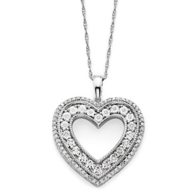 jcpenney.com | 1/10 CT. T.W. Diamond Sterling Silver Heart Pendant Necklace