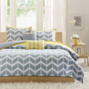 Intelligent Design Elle Chevron Duvet Cover Set