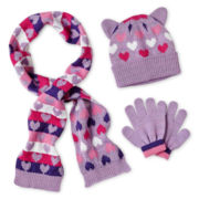 Toby & Me 3-pc. Hat, Glove and Scarf Set - Girls 2t-6t