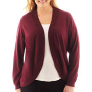 Liz Claiborne® Shawl-Collar Cardigan Sweater - Plus