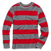 Arizona Long-Sleeve Striped Thermal Tee - Boys 6-18 and Husky