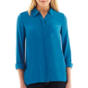 a.n.a® Long-Sleeve Rayon Tunic