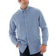 IZOD® Long–Sleeve Saltwater Poplin Shirt–Big & Tall