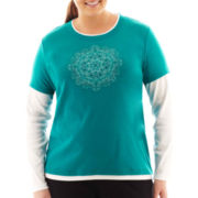 Made For Life™ Long-Sleeve Layered Tee - Plus