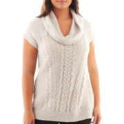 Worthington® Short-Sleeve Chunky Tunic Sweater - Plus