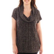 Worthington® Short-Sleeve Chunky Tunic Sweater