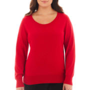 Worthington® Crewneck Pullover Sweater - Plus