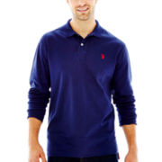 U.S. Polo Assn.® Long-Sleeve Solid Interlock Polo