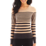 Worthington® Long-Sleeve Crewneck Sweater - Tall