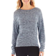 jcp™ Long-Sleeve Cross-Dyed Knit T-Shirt
