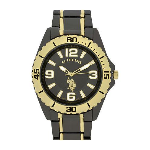U.S. Polo Association® Mens Gray Sport Bracelet Watch