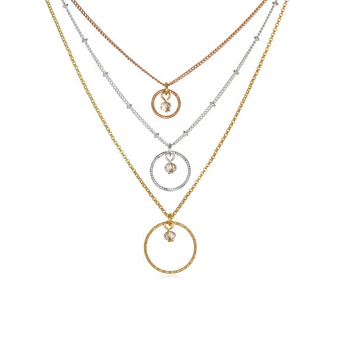 Mixit™ Tri-Color 3-Row Necklace