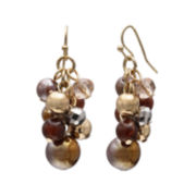 Mixit™ Brown Bead Cluster Earrings