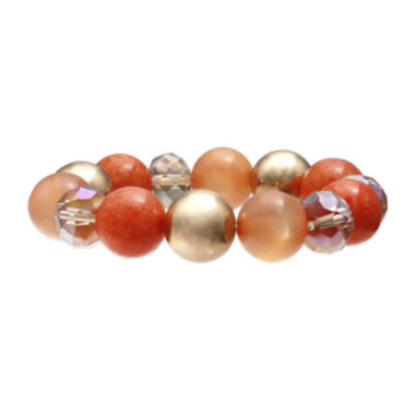 jcpenney.com | Mixit™ Orange Bead Stretch Bracelet