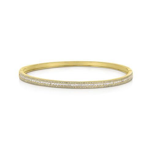 LIMITED QUANTITIES 1 CT. T.W. Diamond 14K Yellow Gold Bangle