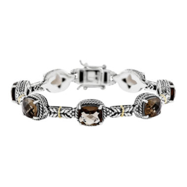 jcpenney.com | Shey Couture Genuine Smoky Quartz 14K Gold Over Sterling Silver Bracelet