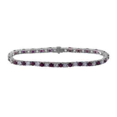 jcpenney.com | Lab-Created Ruby and White Sapphire Sterling Silver Bracelet