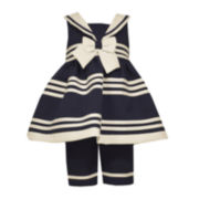 Bonnie Jean® Sailor Dress and Pants Set - Toddler Girls 2t-4t