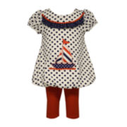 Bonnie Jean® Dress and Leggings Set - Toddler Girls 2t-4t